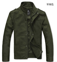 2013 Spring Jacket Men S Military Fatigues Jacket 100 Cotton Casual Stand Collar Jacket Free Shipping