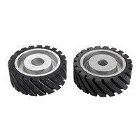 DRELD 150*50mm Serrated Rubber Contact Wheel For Belt Grinder Sander Dynamically Balanced Grinding Sanding Abrasive Belt Set