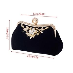 Image 5 - THINKTHENDO Women Party Wedding Clutch Luxury Purse Rhinestone Evening Prom Bag Chain Wallet