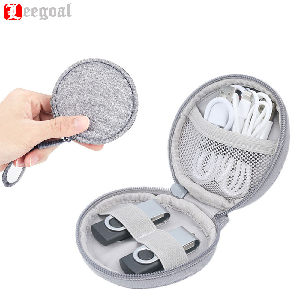 Practical Earphone Zipper Packet Electronics Accessories Storage Bag Travel Digital Polyester Bags Gadget Case Cable Organizer