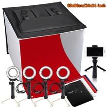 Travor K60 24x24 Inch LED Portable Photo Studio Light Box Foldable Table Top Photography Shooting Tent 3200K 5500K 9000K цена и фото