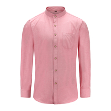 Dioufond mens shirts casual slim fit Elegant Autumn Male Shirt Long Sleeve fashion Solid Loose Tops mandarin collar