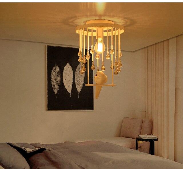 Nordic K9 Kristall Vogel Deckenleuchten Led Lampen Wohnzimmer