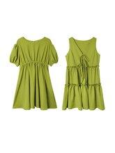 Avocado Green Dress 2 style Summer chiffon Shopping cool dress 2019 fairy cute