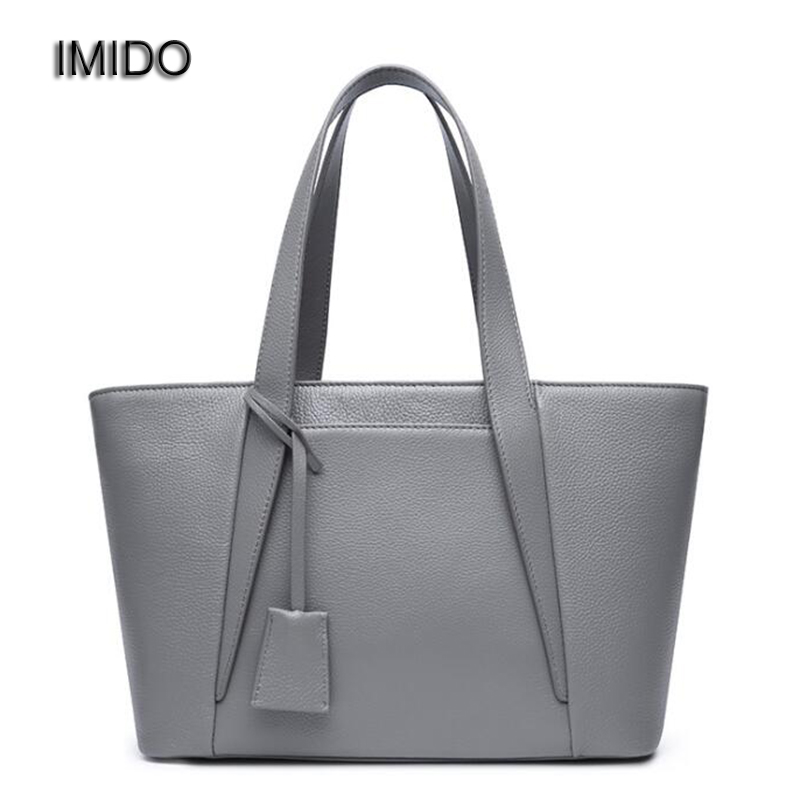 IMIDO 2018 Brand Designer Handbags genuine leather bags for women Tote Bag Cowhide Single Shoulder Bags bolsa feminina HDG099 imido europe large capacity real split leather bags ladies brand designer bag women handbags tote shoulder bag blue bolsa hdg038