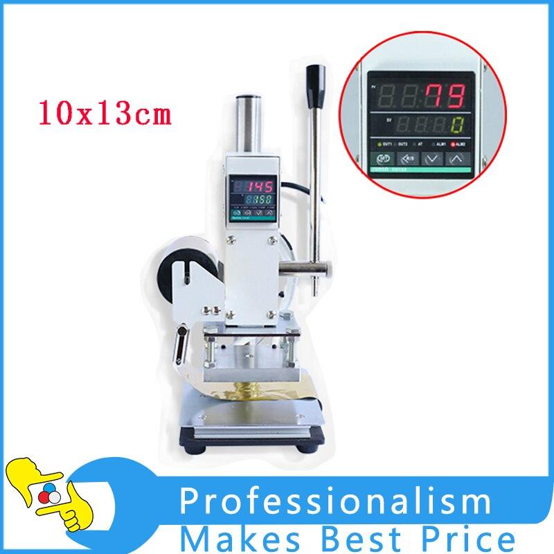 110V/220V Manual Digital Hot Foil Stamping Machine Wooden Bronzing machine 10*13cm gilding press bronzing hot foil stamping machine