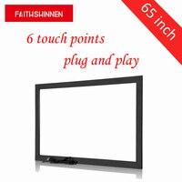 Инфра красная рамка на ТВ 65 65 дюймов инфракрасный USB 6 очков сенсорный экран каркас, чтобы сделать ваш телевизор сенсорный экран