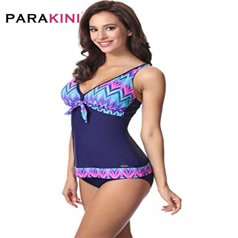 a28db90e17099 PARAKINI Tankini Swimsuits Women Plus Size Swimwear Vintage Swimsuit ...