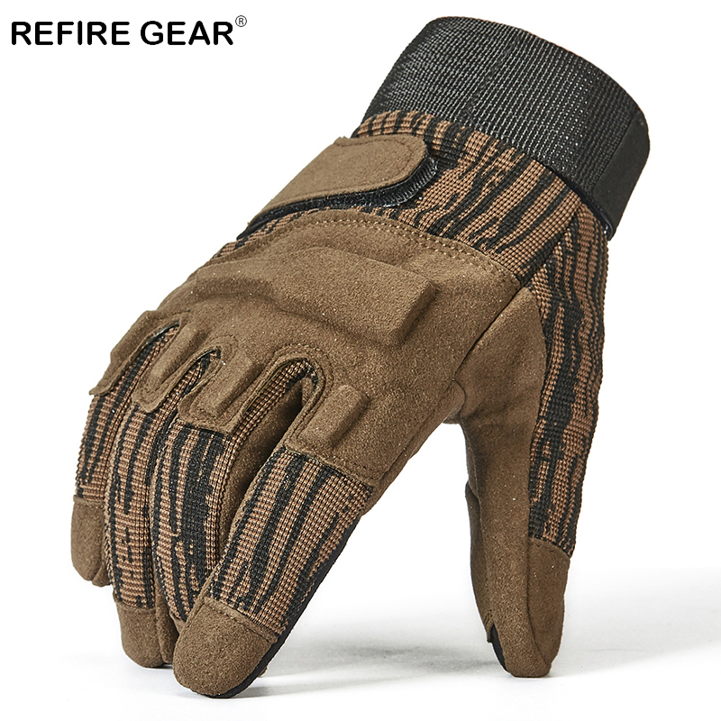 Refire Gear Outdoor Military Full Finger Hiking Gloves Men Paintball Airsoft Tactical Combat Glove Male Special Force Army Glove Refreshing And Enriching The Saliva