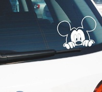 car sticker motorcycle Funny Car Sticker Cute Mickey Minnie Mouse Peeping Cover Scratches Cartoon Rearview Mirror Decal For Motorcycle Vw Bmw Ford Kia (2)