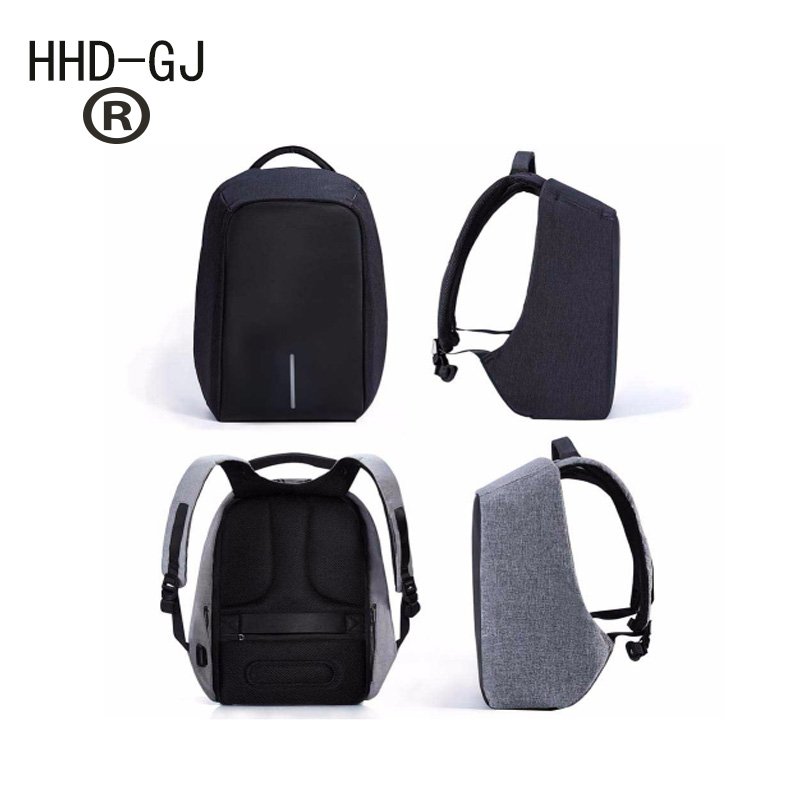 HHD-GJ 1517 Laptop Backpack External USB Charge Computer Backpacks Anti-theft Waterproof Bags for Men Women free shipping