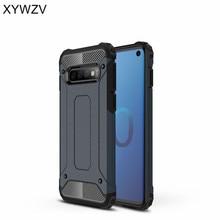 For Cover Samsung Galaxy S10 Case Armor Silicone & Hard Plastic Phone Fundas ^