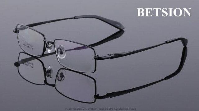 BETSION Pure Titanium Очки Кадр Черные Очки очки мужчины женщины Rx способные