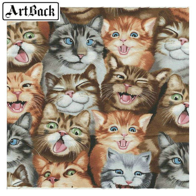 DIY Diamond Embroidery Cat Animal Painting Rhinestone Cross Stitch 20x 20cm