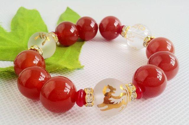 Liuhe longyi Goutu obsidiana bracelete de ônix bracelete de cristal branco uma variedade de opcionais 3000509