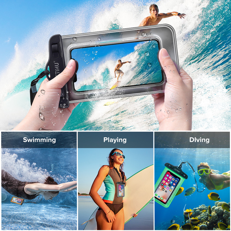 Universal Cover Waterproof Phone Case For iPhone XS MAX 8 7 6 6S Coque Pouch Bag Case For Samsung Galaxy S8 Swim Waterproof Case