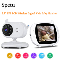 Spetu Wireless 3.5 Inch TFT LCD Video Baby Sleep Monitor With Night Vision TFT Baby Monitor Baby Camera Digital Video Babysitter