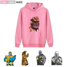 Marvel Comic Thanos Pattern Fashion College Anime Hoodie streetwear Kangaroo Pocket Winter  Teen Sweatsuit A193291 kangaroo pocket tie dye hoodie
