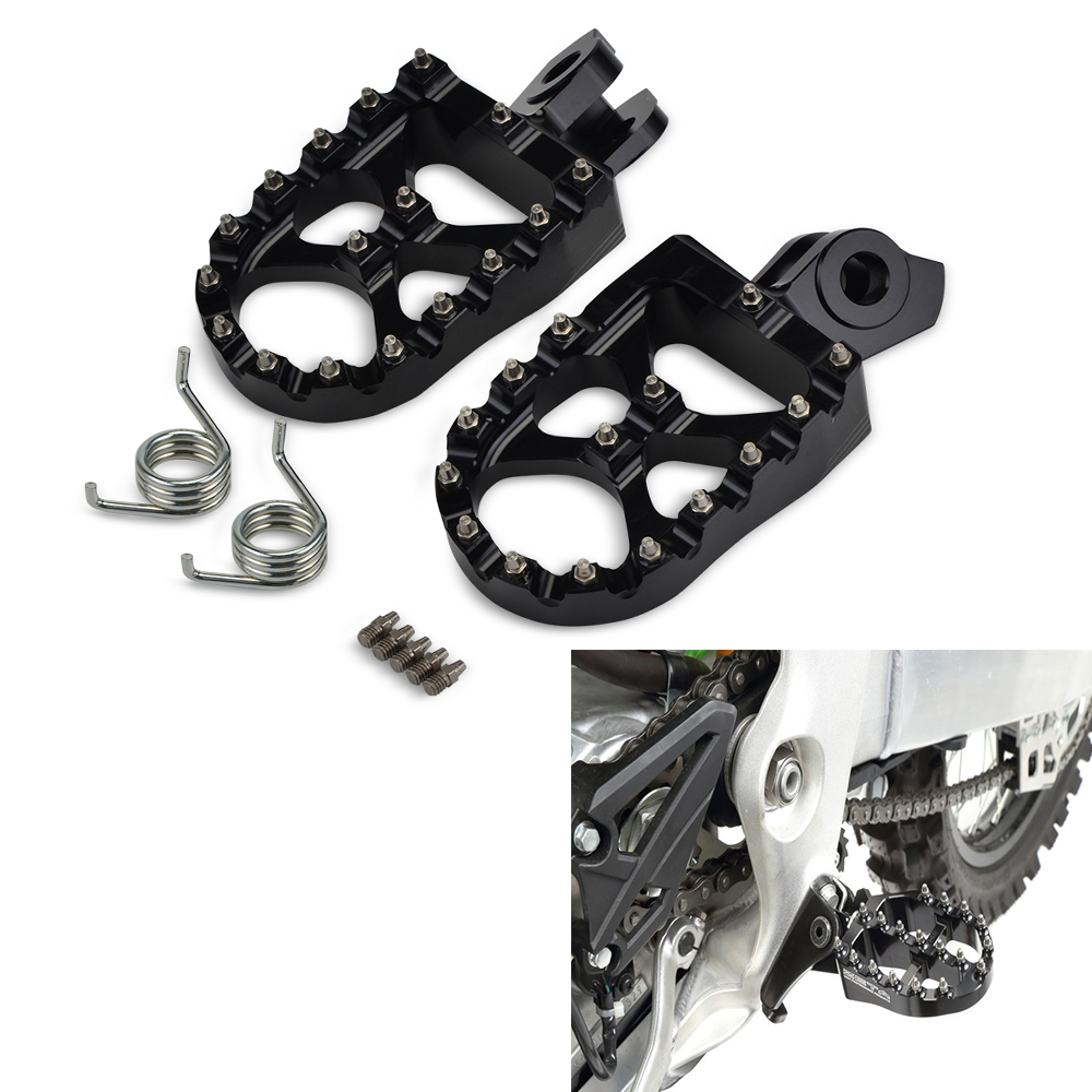 NICECNC Foot Pegs Footpeg Footrest Pedal For Suzuki RMZ250 2010 2018 450 2008 2018 RMX450Z 2010