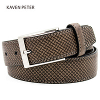 Genuine Leather Brown Cowboy Belt Italian Design Style Male Belt Jeans Male Strap Mens Belts Luxury