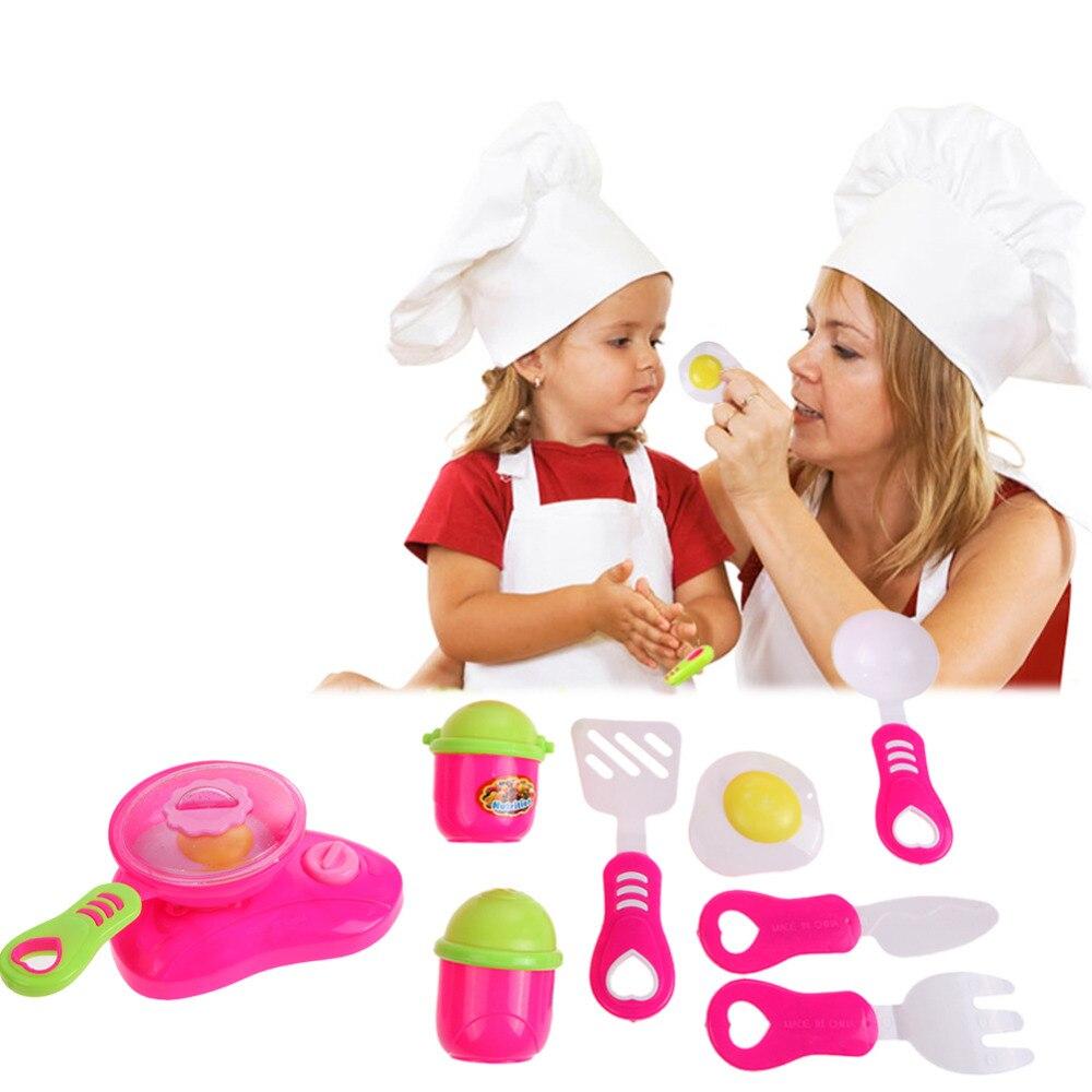 Ernst Pädagogisches Diy Kochen Pretend Spielen Spielzeug Kinder Küche Kochen Spielzeug Baby Mädchen Weihnachten Spiel Geschenke Töpfe Rot Rosa Farbe