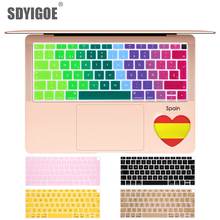 Spain For macbook air 13 A1932 EU Notebook Keyboard Cover Dustproof Film Silicone Laptop Protective Waterproof