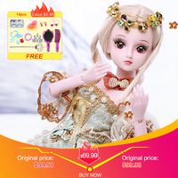 UCanaan 1/3 BJD Doll 60CM /23.6'' height 19 Ball Jointed Dolls (Wig+ Shoes +Clothes +Hair +Eyes+ Makeup) Toys Collection