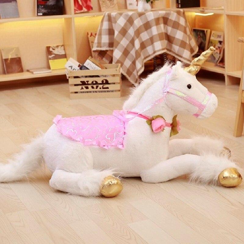 85 cmblanc licorne Peluche jouets géant licorne Peluche Animal cheval jouet doux Unicornio Peluche poupée cadeau enfants Photo accessoires