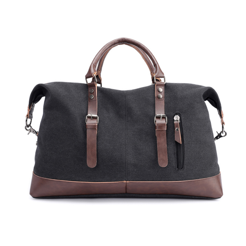 Wobag 2018 Canvas Leather Men Travel Bags Carry on Luggage Bags Men Duffel Bags Travel Tote Large Weekend Bag Overnight Fashion fashion vintage canvas leather men travel bag carry on luggage duffel packet large tote patchwork weekend crossbody bag xa271wc
