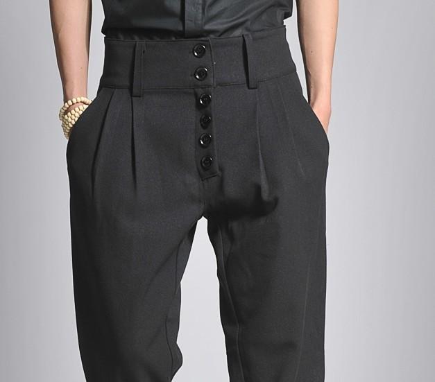 27-44 tamanho grande calças 2017 homens bootcut haroun calças de cintura altas dos homens, calças de lazer do cantor roupas
