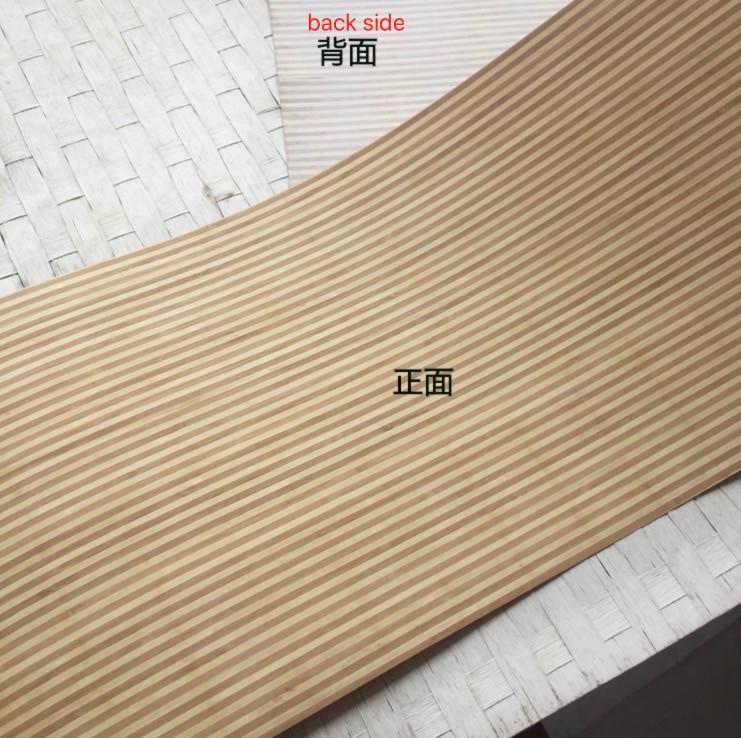 L: 2.5 mètres/pcs largeur: 42 cm épaisseur: 0.5mm lignes fines placage de peau de bambou zèbre naturel (dos avec tissu non tissé)