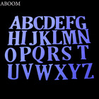 ABOOM Fresh Capital Letter Alphabet Metal Dies Cut Dies Embossing Stencil Carft Paper Card Cutting Dies For Home Decoration