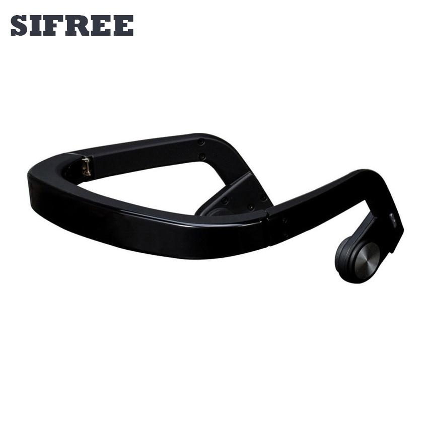 Conduction osseuse Casque Sans Fil Bluetooth Écouteurs Sports de Plein Air Basse Casques avec Micro de Haute Qualité De Luxe Mobile Téléphone