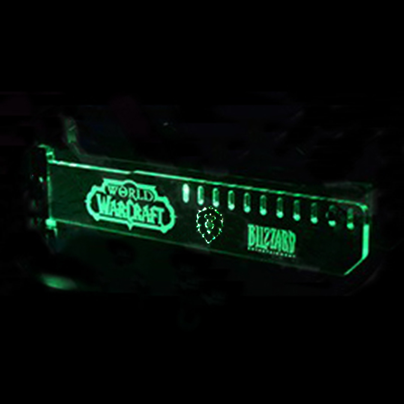 Newest Green G8 Extended Version For WOW (Alliance) LED Luminous Computer Main Box Graphics Cards Support Frame Display Card HIS