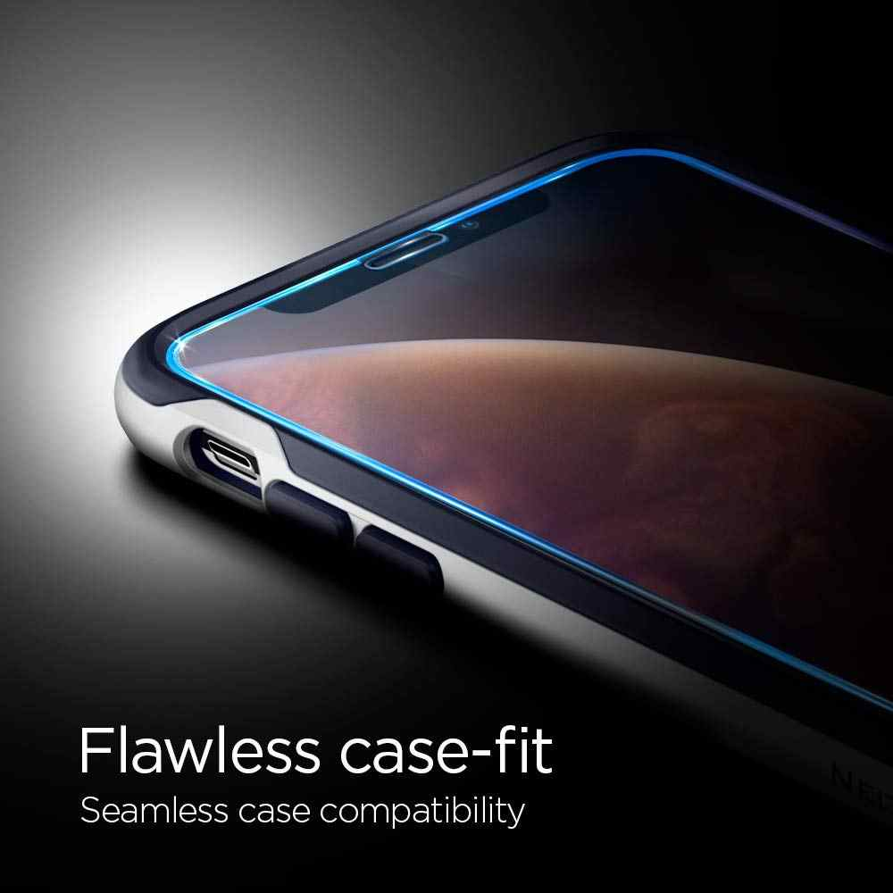 the latest e281c a5408 100% Original SPIGEN Glas.tR Slim EZ Fit Full Coverage Tempered Glass  Screen Protector for iPhone XS Max / XS / XR / X