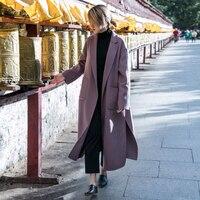 2018 High end Brand Coat Wool Silk Fabric Double sided Merino Cashmer Short Soft Glossy diy Fabric for Dress stitch lilo telas