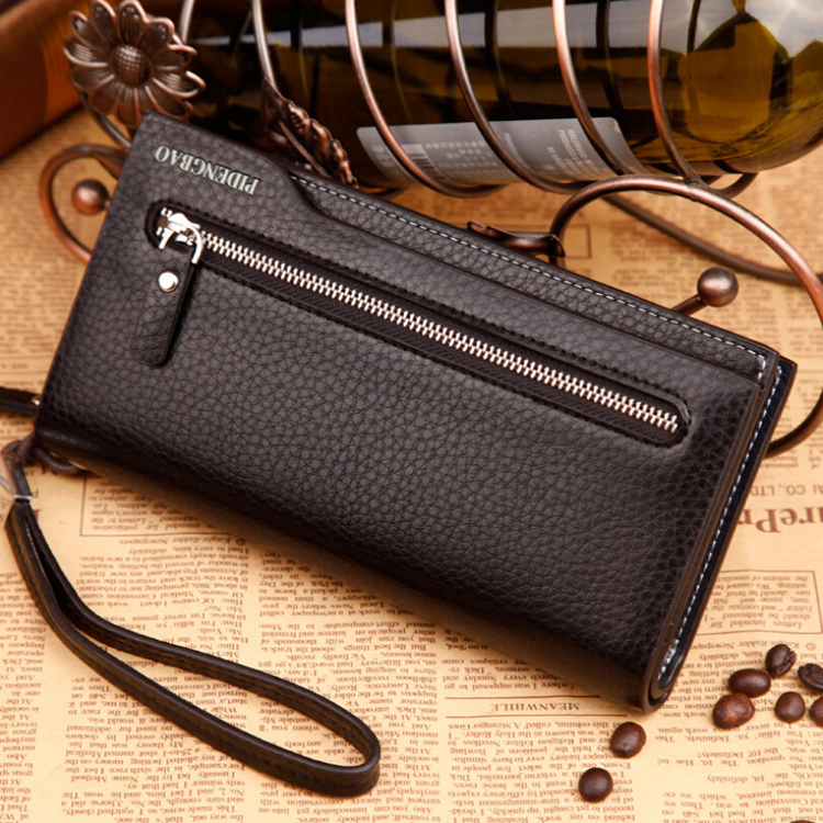 2016 Hot Sale Quality PU Leather Men Zipper Long Clutch Wallets,embossed Pattern multifunction Card Holder purse Wallet Large lorways 016 stylish check pattern long style pu leather men s wallet blue coffee