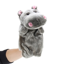 Baby Plush Toys Cute Hippo Cartoon Hand Puppet Children Kids Doll Plushed Toy Gift Puppets 27cm Gray Color Decoration
