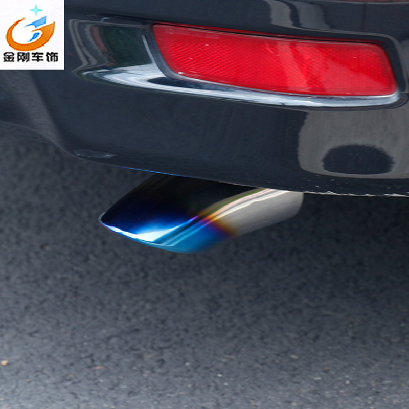 Stainless Steel Rear Exhaust Pipe Tail Muffler Fit For Corolla Levin 2014-2017 Car Pipers Trim Modified Throat Liner stylish stainless steel car exhaust pipe muffler tip