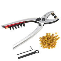 3 In 1 Card Leather Hole Punch Eyelet Pliers Snap Button Setter Punch Pliers Set
