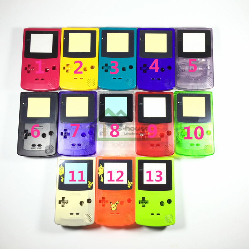 10 set Clear shell case Replacement For Gameboy Color GBC game console full housing for Mario