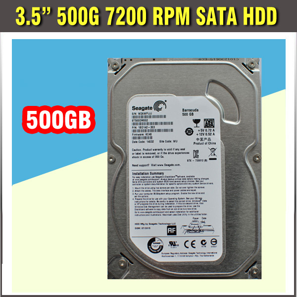 HDD 500G SATA 3.5 7200RPM SATA Hard Disk Drive for CCTV DVR or Computer PC with hight quality HDD internal hard drive 3 5 sata internal hard disk 2000gb 2tb hdd 7200rpm for computer pc server cctv recorder dvr nvr camera sets