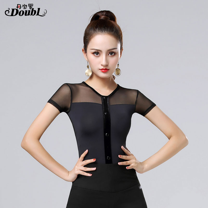 Women Ballroom Dance Costumes Newest Design Woman Modern Waltz Tango Top/standard Competition Short Sleeve S-3XL