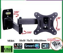 EML602 soporte de Monitor LED LCD de 10 26 pulgadas, de movimiento completo, montaje en pared de TV, brazo oscilante giratorio