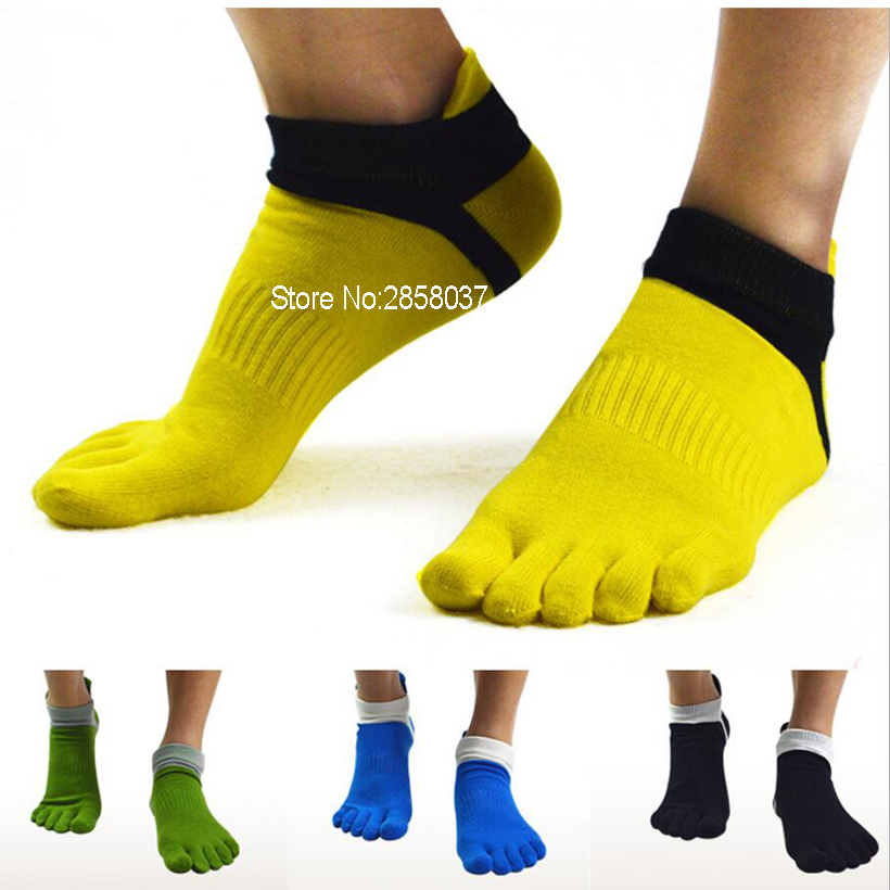 1 par 78% algodón exterior verano primavera hombres calcetines del dedo del pie deporte malla tobillo cinco dedos calcetines calcetines finos de los hombres 39-44 6 colores