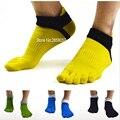1 par 78% algodón al aire libre verano primavera hombres dedo del pie Calcetines deporte malla tobillo cinco dedos calcetines hombres delgados calcetines 39-44 6 colores