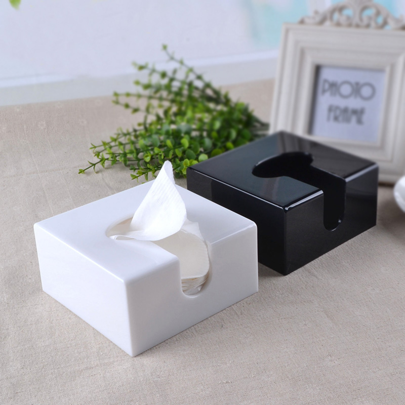Modern Acrylic Bathroom Facial Tissue Dispenser Box Cover Decorative Napkin Holder Tb004 In