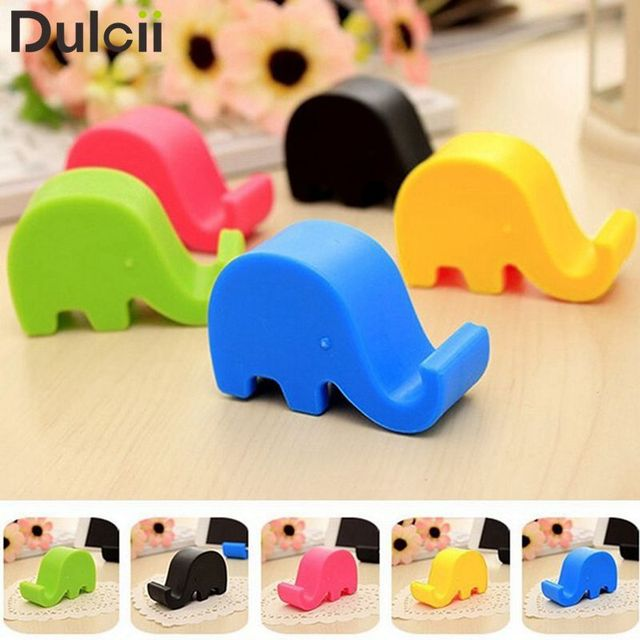 Dulcii Universal Mini Elephant Phone Holder Tablets Stand pop Cute Elephant Phone Socket Holders Tablet Stands