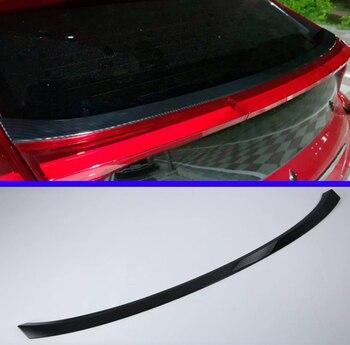 Dla Mitsubishi ECLIPSE krzyż 2018 2019 styl z włókna węglowego boczne okno tylne Spoiler Cover Trim odlewnictwo udekorować