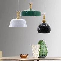 Современная Nordic Алюминий подвесные светильники висит освещение столовая абажуры украсить кровать освещение комнаты AC110V/220 В E27